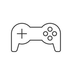 Joystick thin line icon vector