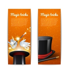 Magic banners set vector