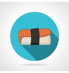 Nigiri-zushi flat design icon vector image