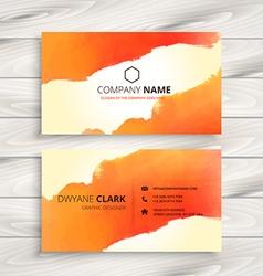 Orange ink corporate identity card vector
