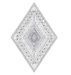 Original drawing ethnic tribal doddle rhombus 2 vector