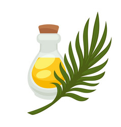palm oil in bottle flat isolated icon vector image vector image