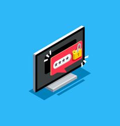 Password unlock symbol vector