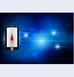 Phone and digital technology for business concept vector