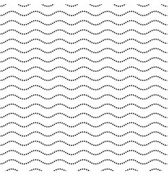 seamless dotted wavy line pattern vector image