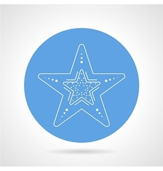 Starfish blue round icon vector image vector image