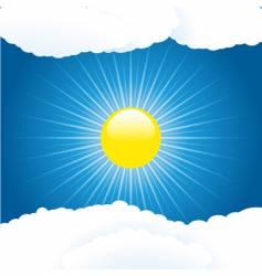 summer sky and clouds vector image vector image