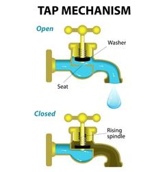 tap mechanism vector image