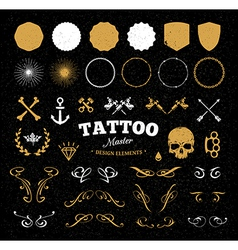 Tattoo master set vector