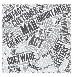 The benefits of act text background wordcloud vector