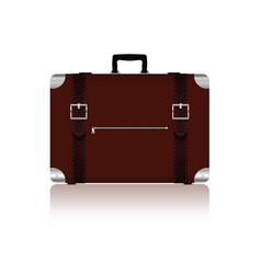Travel bag with belts in brown color four variant vector