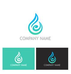 water drop abstract bio logo vector image