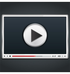 White Video Player vector image vector image