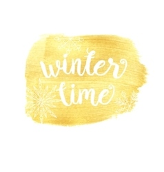 Winter time typographic posterPhrase vector image