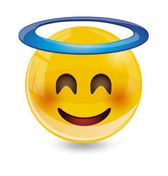 yellow smiley emoticons emoji vector image