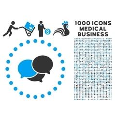 Webinar Icon with 1000 Medical Business Symbols vector image