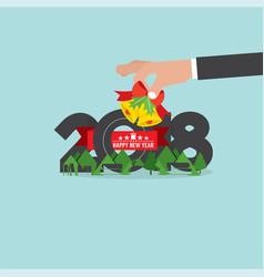 2018 happy new year vector