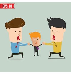 Cartoon business man snatching people - - ep vector