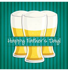 Happy fathers day beer card in format vector