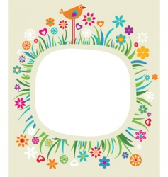 Floral boarder vector