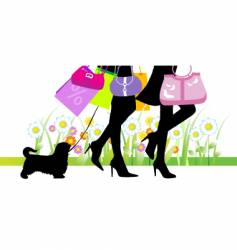 legs with bags vector image