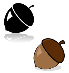 Acorn drawing vector