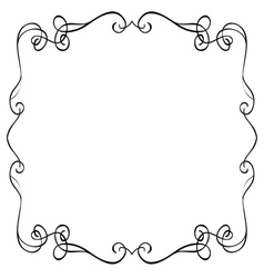 Ornate frame on a white background vector
