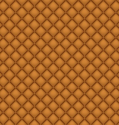 Seamless brown leather upholstery vector