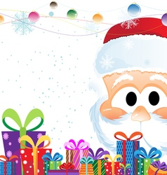 Santa claus and christmas gifts vector