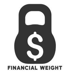 Financial weight icon with caption vector