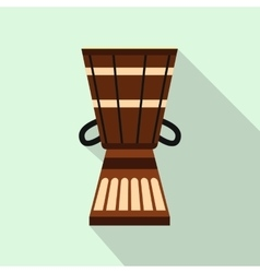 Australian ethnic drum icon flat style vector