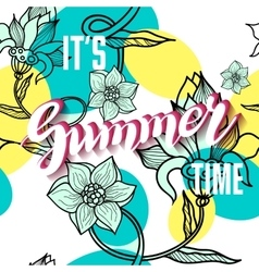It is summer time lettering background vector