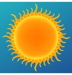 Shiny sun in the blue sky vector