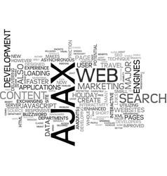 Ajax seo are they compatible text word cloud vector