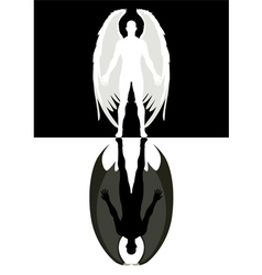 Angel and devil vector