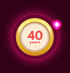 Anniversary 40 icon vector