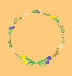 April wreath vector