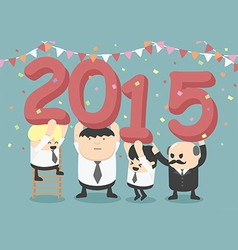 Businessman happy new year party vector