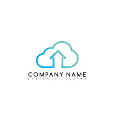 Cloud chat home brand company template logo vector