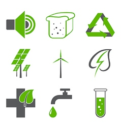 environmental logos vector image