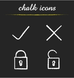 File access chalk icons vector