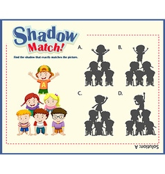 Game template with shadow matching children vector image vector image