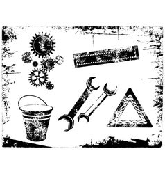 Grunge tools vector