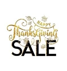 Happy Thanksgiving Sale vector image vector image