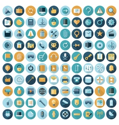 icons flat line ui user interface vector image vector image