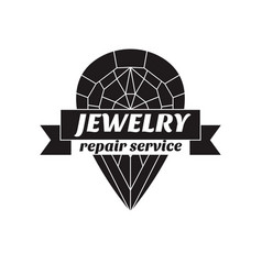 image of logo jewelry service trendy vector image vector image
