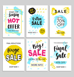 mobile sale banners template set for shopping vector image vector image