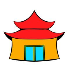 pagoda icon cartoon vector image vector image