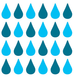 Seamless pattern with blue drops vector
