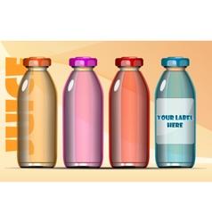 set of transparent glass or plastic orange vector image vector image